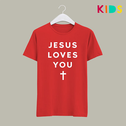 Jesus Loves You Kids Christian T-shirt by Stay Lit Apparel UK