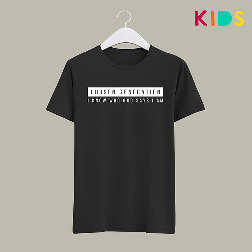 Chosen Generation Christian T Shirt for Kids I know who God says I am by Stay Lit Apparel
