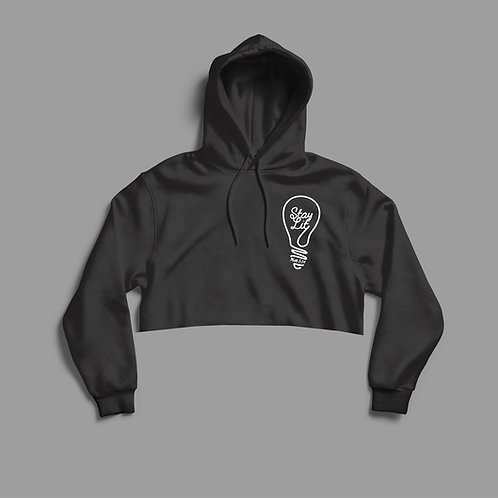 Light of the World Stay Lit Cropped Womens Hoodie by Christian Clothing Brand