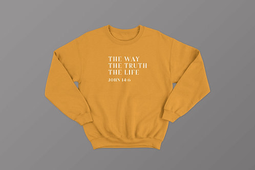 Way Truth Life Shirt Sweatshirt by Stay Lit Apparel Christian Bible Verse Clothing UK