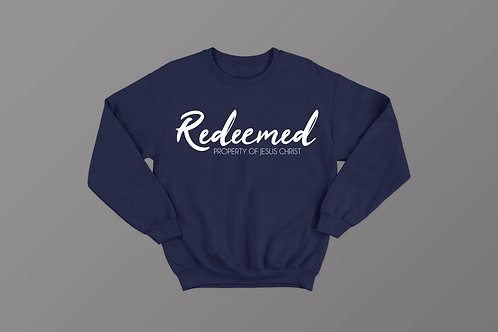 Redeemed Property of Jesus Christ Sweatshirt Christian Clothing by Stay Lit Apparel UK