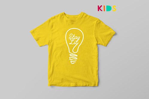 Stay Lit Christian Kids T-shirt, Light of the world Christian T shirt for Kids