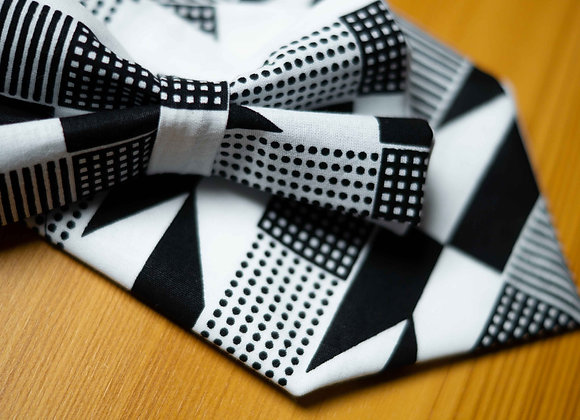 Monochrome Black and White African Print Bow Tie UK African Accessories for Groom Wedding Bow Tie Asikara by Laura Jane
