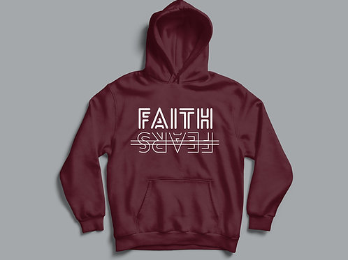 Faith over Fears Christian Clothing Hoodie by Stay Lit Apparel UK
