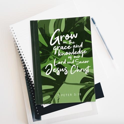 Bible Verse Journal, Grow in Grace, Prayer journal, Stay Lit Apparel, Christian Gifts, Christian Journal gift uk
