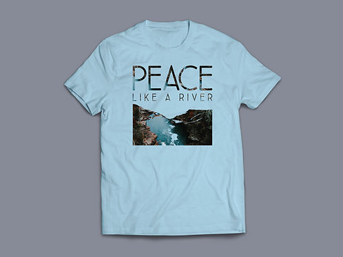 Peace like a river Christian T shirt Stay Lit Apparel, Christian Peace T shirt