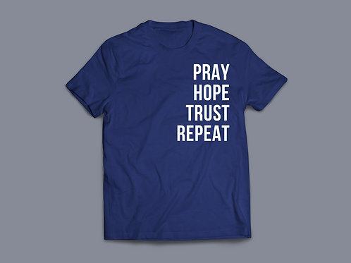 Pray Hope Trust Repeat Christian Clothing UK Stay Lit Apparel Christian Clothes Pray Clothing