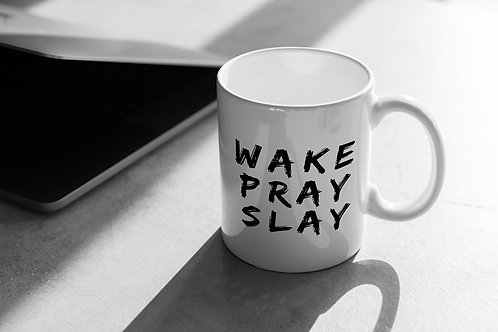 Wake Pray Slay Christian clothing brand Christian gifts Christian Mug