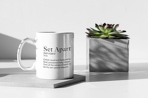 Christian Gift Set Apart Mug Christian Clothing Brand Stay Lit Apparel
