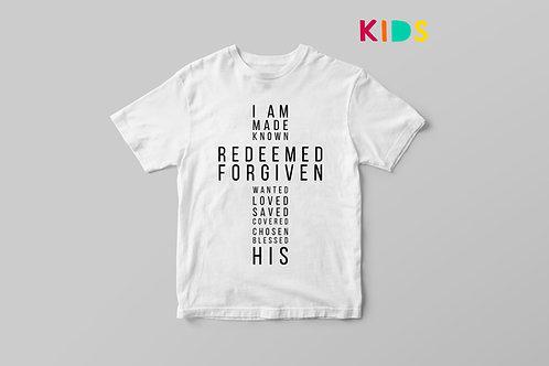 I am His Christian Kids T shirt, I belong to God T shirt, Christian T shirt for Children