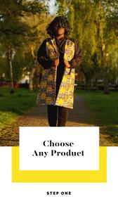 African Print Trench Coat Asikara