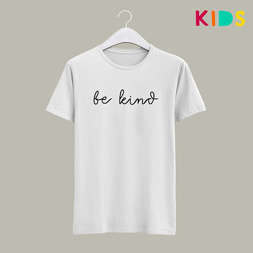 White Be Kind Children's Kids T-shirt UK Vegan Friendly Christian Clothing by Stay Lit Apparel