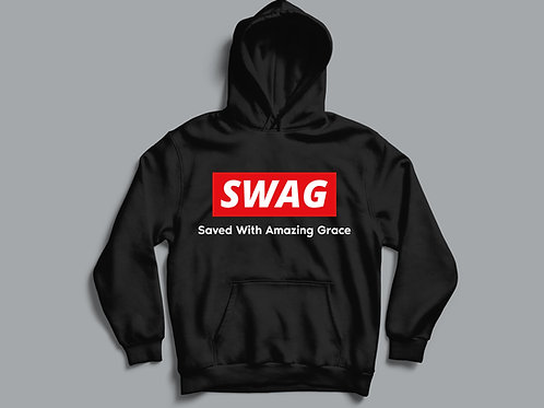 Saved With Amazing Grace SWAG Christian Hoodie by Stay Lit Apparel Christian Clothing Brand UK