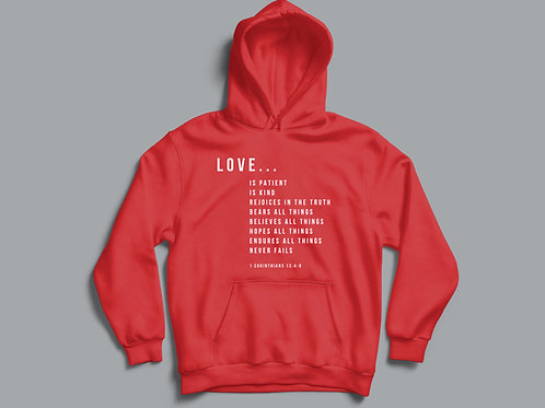 Love is 1 Corinthians 13 Bible Verse Hoodie
