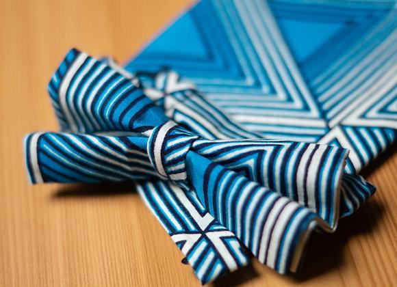 Striped African Print Bow Tie UK African Accessories for Men Groomsmen Wedding Bow Tie African Wedding Asikara by Laura Jane