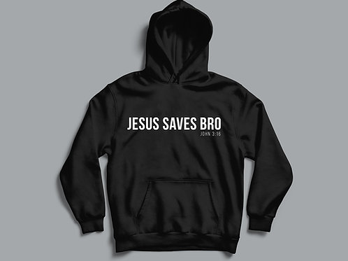 Jesus Saves Bro John 3:16 Bible Verse Christian Hoodie Clothing by Stay Lit Apparel