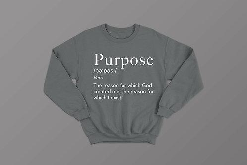 Purpose Definition Christian Sweatshirt