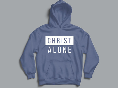 Christ Alone Christian Clothing Hoodie by Stay Lit Apparel UK