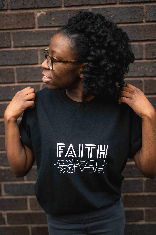 Faith Over Fears Black Christian T-shirt by Stay Lit Apparel