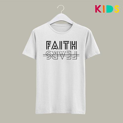 Faith over Fear Christian T-shirt Kids