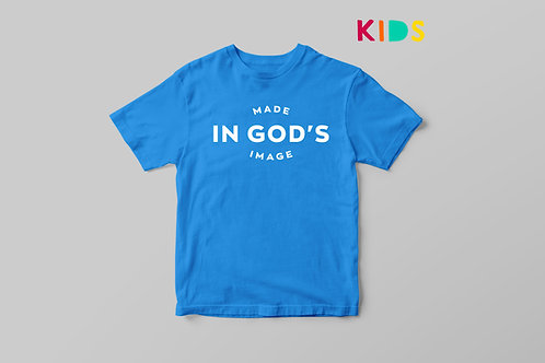 Made in God's image Christian T-shirt for Kids, Christian T shirt Fearfully and wonderfully made