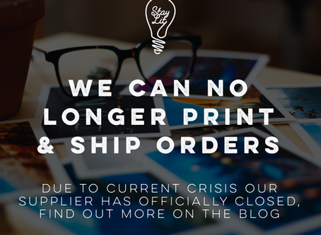 We can no longer print & ship your orders! :(