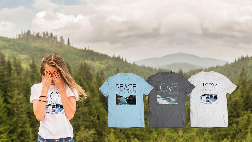 Peace Hope Love Christian Clothing, Christian T Shirts UK, Christian clothing UK