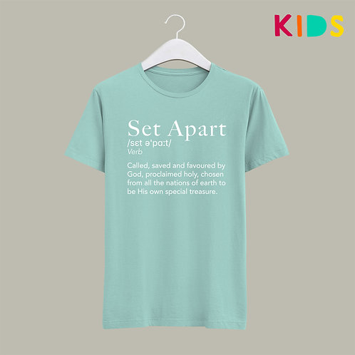 Set Apart Dictionary Definition Christian T-shirt for Kids Stay Lit Apparel
