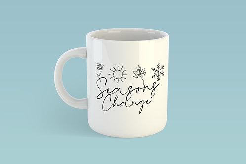 Seasons Change Christian Mug Stay Lit Apparel UK