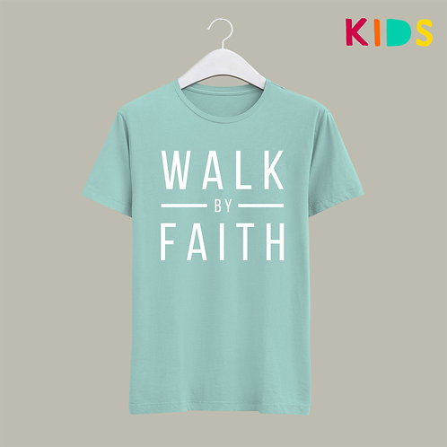 Walk by Faith Christian Kids T-shirt Stay Lit Apparel UK