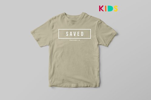 Saved Salvation Kids Christian T-shirt UK Stay Lit Apparel
