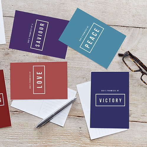 Pack of 5 encouragement postcards