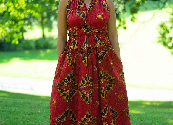 African Print Wedding Dress Asikara by Laura Jane