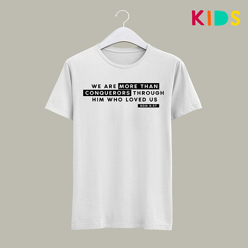 More than a Conqueror Christian Kids T-shirt
