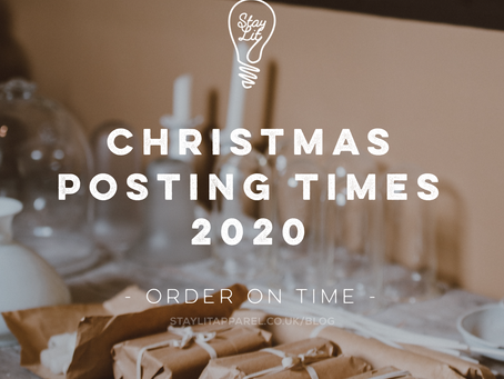 Christmas Posting Times 2020 - Order your items on time!
