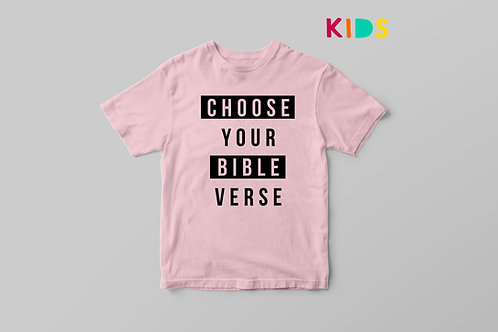 Bible verse Kids Christian T-shirt by Stay Lit Apparel UK, Personalised Christian T shirt for Kids