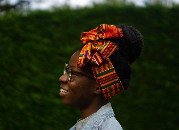 Kente African Print Headwrap Asikara by Laura Jane African Print Headwraps UK