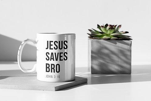 Jesus Saves Bro Mug Christian gifts Christian Clothing Brand Stay Lit Apparel