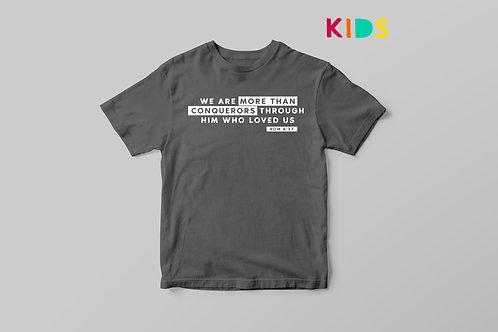 More than a Conqueror Christian Kids T-shirt, Christian Kids Clothing UK