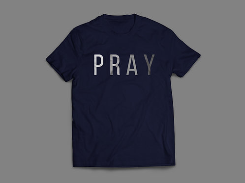 Pray Navy Christian T-Shirt by Stay Lit Apparel