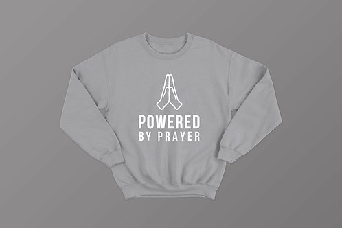 Powered by prayer Christian Sweatshirt by Stay lit apparel uk Christian clothing