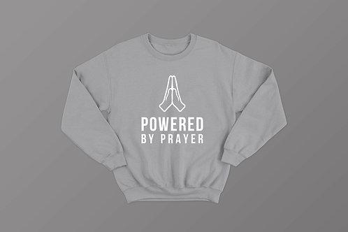 Powered by prayer Christian Sweatshirt