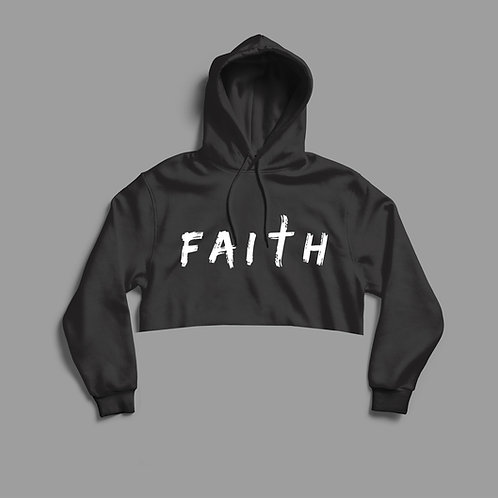 Faith Cropped Women's Christian Hoodie