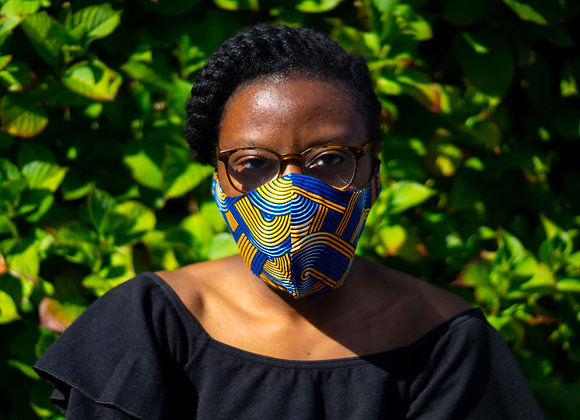 African fabric Face Mask Covid 19 Non surgical Asikara by Laura Jane UK