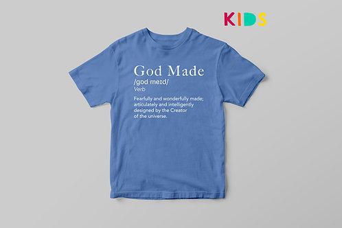God Made Kids T-shirt Definition Christian Clothing UK Stay Lit Apparel