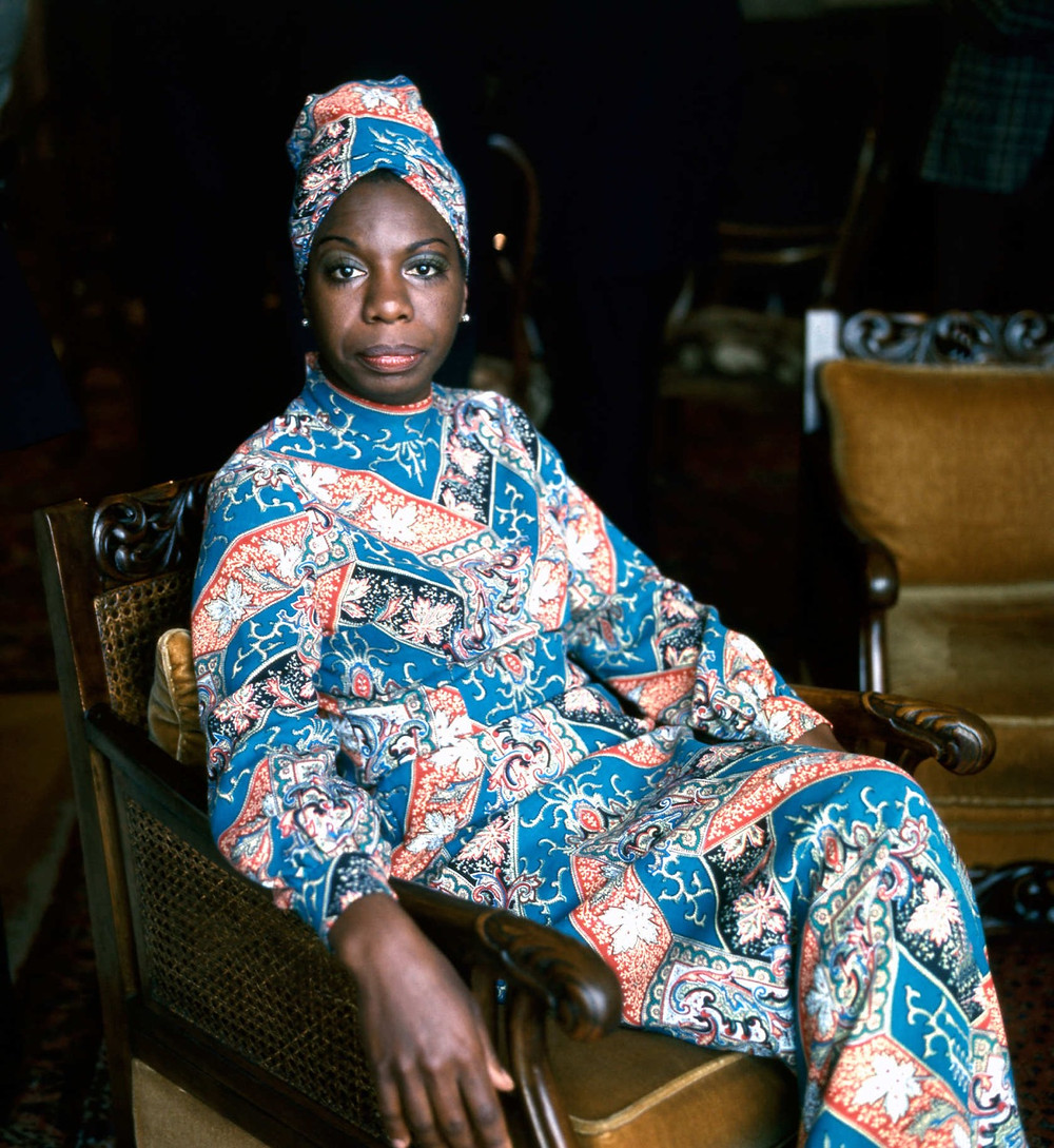 The History of the Headwrap Asikara by Laura Jane, Nina Simone in a headwrap