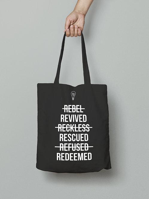 Redeemed Tote Bag, Rescued Tote bag, Restored Tote Bag