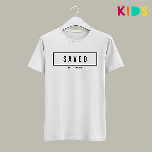Saved Salvation Kids Christian T-shirt UK Stay Lit Apparel