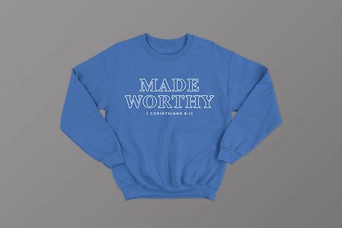 Made Worthy Christian Bible Verse Sweatshirt
