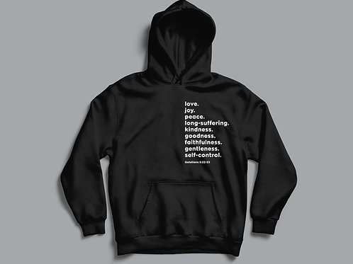 Fruits of the Holy Spirit Christian Hoodie by Stay Lit Apparel
